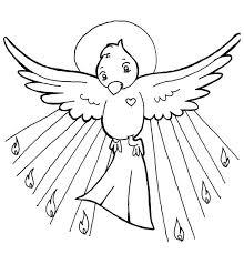 Holy Spirit Pentecost Catholic Coloring Page