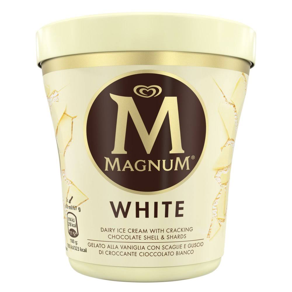 Magnum Tub Ice Cream - 440ml, White