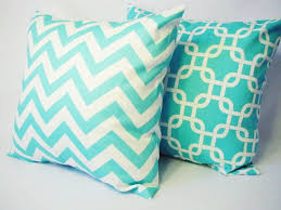 Decorative Couch Pillow Covers by Teal Decorative Throw Pillow Covers In Teal Blue And White