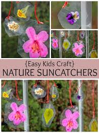 Spring Flower Art For Kids DIY Nature Suncatchers