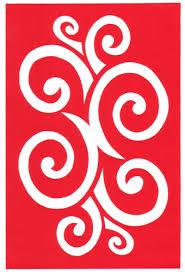 Cut Paper Design Curly Border Stencil