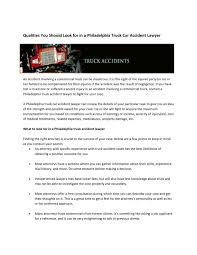 100 Truck Accident Lawyer Philadelphia Calamo Qualities You Should Look For In A Car
