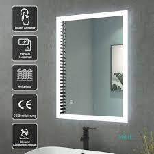 badspiegel mit led beleuchtung touch wandspiegel