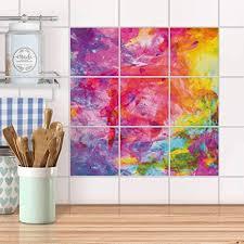 creatisto fliesenbild für küche und bad i fliesen sticker aufkleber selbstklebend i fliesen verschönern fliesenspiegel für küchen und badfliesen i