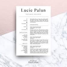 Modern CV MS Word Lucie Modern
