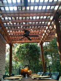 Ul Damp Rated Ceiling Fans by Brilliant Outdoor Patio Fan With Pergola And Fan Over Part Of Dock