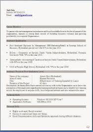 Sample Resume For Mba Fresher