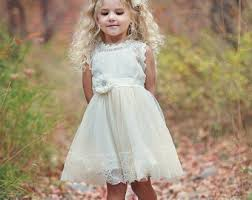 Flower Girl Dress Lace Country Rustic