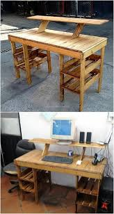 low cost diy pallet wood creations wooden pallets pallets and desks