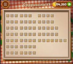Word Cookies Cappuccino 17 Level Answers Cheats AnswersKey