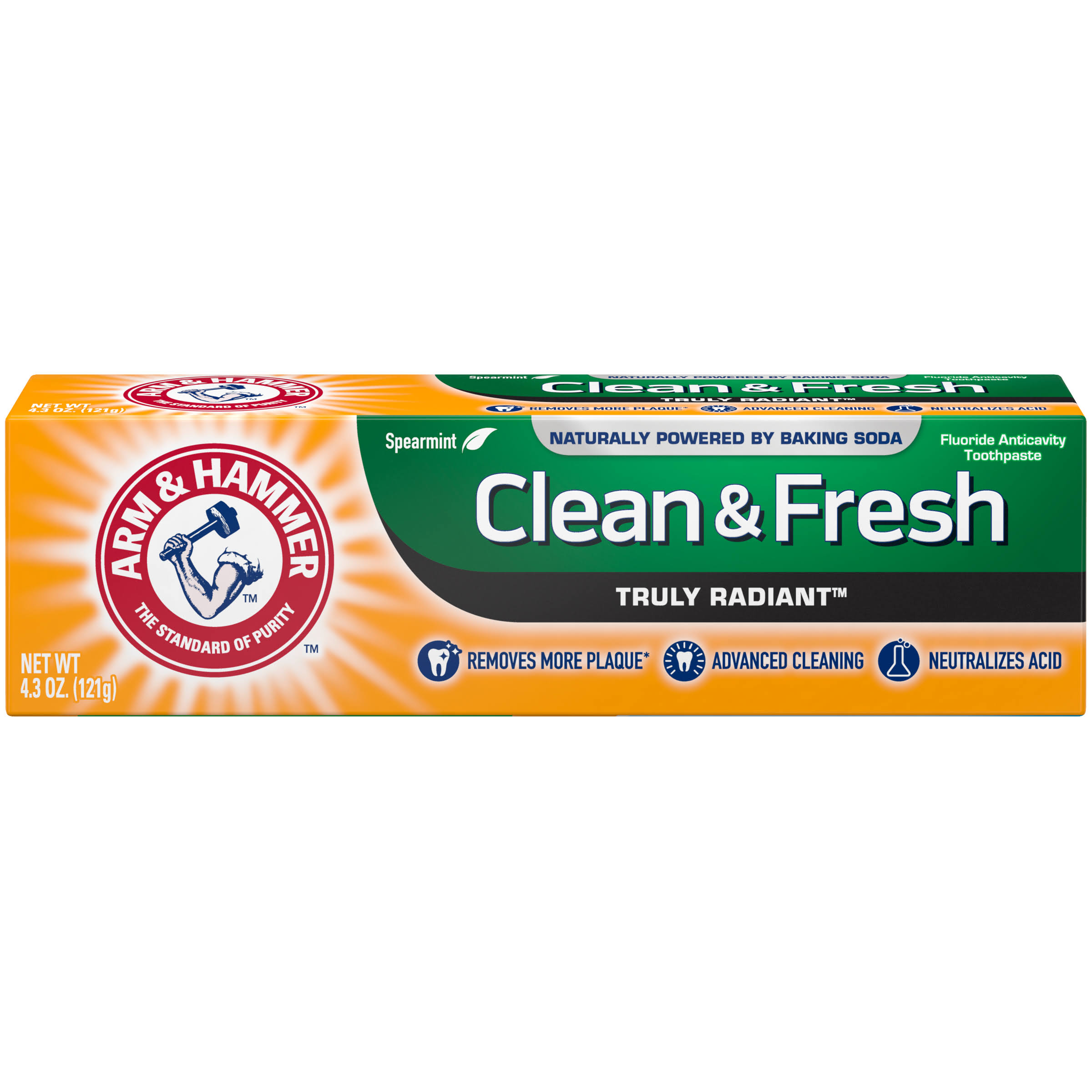 Arm & Hammer Truly Radiant Toothpaste, Clean & Fresh - 4.3 oz tube