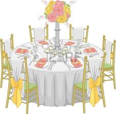Illustration Of A Formal Table Set Up At Reception Hall