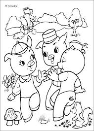 Wolf Destroys Wood House Coloring Pages