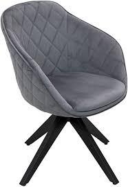 dreh polsterstuhl mit armlehne samtbezug gepolster drehstuhl im retro design für esszimmer speisezimmer küche büro lounge anthrazith