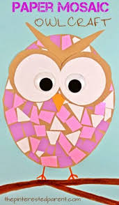 Construction Paper Mosaic Owl Craft