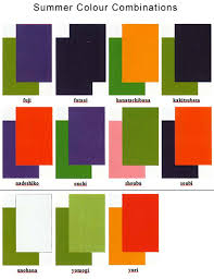 When Summer Arrives One May Wear The Following Colour Combinations