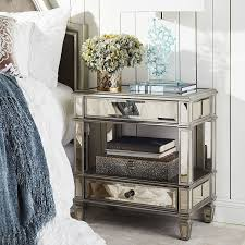 Pier One Hayworth Dresser Dimensions by Hayworth Mirrored Silver 2 Drawer Nightstand Pier 1 Imports