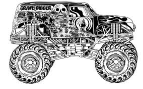 Download Grave Digger Monster Truck Coloring Pages Printable In Box Page