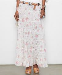 denim u0026 supply ralph lauren floral print tiered maxi skirt lyst