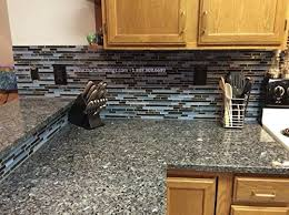 laguna blue random pattern glass tile granite tile color black