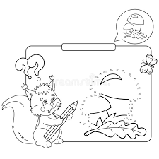 Download Educational Games For Kids Numbers Game Mushrooms Coloring Page Outline Of Squirrel