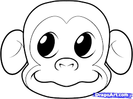 Coloring Page Going To Use It As A Template Make Felt Monkey Face