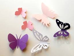 Wall Decoration Ideas With Paper Miraculous Simple Design Butterfly Art Decor