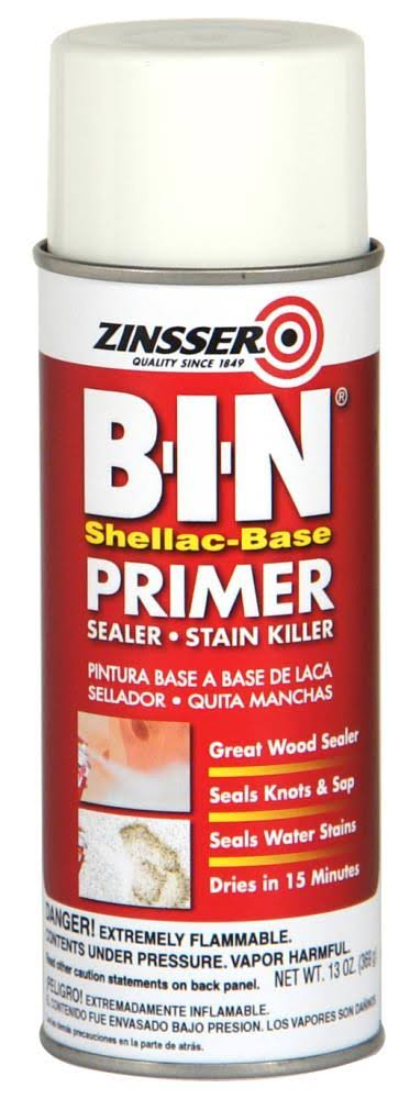 Zinsser B-I-N Shellac-Based Primer Sealer Stain Killer - White, 13oz