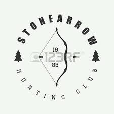 Hunting Logo In Vintage Style Vector Illustration