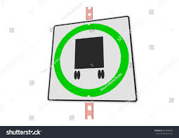100 Truck Route Sign 3 D Illustration Roadsign Isolated Stock Vector Royalty