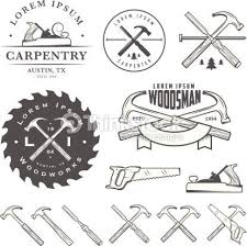 Set Of Vintage Carpentry Tools Labels And Design Elements Royalty Free Stock Vector Art