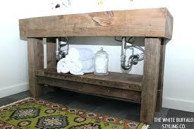 Bathroom Storage Worktable Vanity Rustic Style Vanities Bath Look