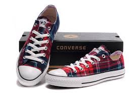 converse all plaid best converse all low bule plaid
