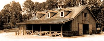 Shed Row Barns Texas by Custom Post And Beam Barn Kits Horse Stable U0026 Living Quarter Barns