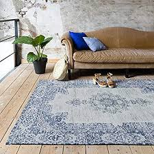 fraai teppich vintage dreams tiefes blau 140x200cm baumwolle flachgewebe antik vintage klassik industrielle wohnzimmer esszimmer