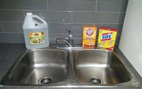 Slow Draining Bathroom Sink Baking Soda by Clean Kitchen Sink Baking Soda How To Your With Stainless Steel