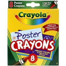 amazon com crayola poster crayons 8 count toys games