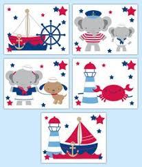 nautical nursery prints sailboat wall art boy blue sage green room