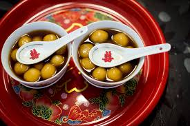Eating Glutinous Riceballs Traditional Chinese Wedding Tea Ceremony