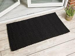 pad outdoor matte uni schwarz 72x132 fussmatte teppich pad concept fußmatte ebay