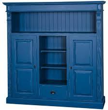 casa padrino landhausstil bücherschrank antik blau 60 x 36 x h 100 cm massivholz schrank mit 2 türen und schublade wohnzimmerschrank