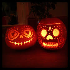 Minion Pumpkin Carvings by A Sugar Skull Day Of The Dead Pumpkin Carving By Day And By Night