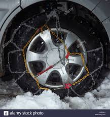 Close Up Of Snow Chains On Car Tire Stock Photo, Royalty Free ... How To Install Tire Chains On Your Rig Youtube Alpine Sport Truck Suv Laclede Chain Peerless Vbar Double Tcd10 Aw Direct 2800 Series In Stock Arctic Wire Rope Winter Traction Options Tires And Snow Socks Trimet Drivers Buses With Dropdown Chains Sliding Getting Stuck Rear Plows Attachments Accsories Canam Thule Xd16 For 4x4 Van Truck Stock Photo Image Of Drive Service 12425998 Snowtire 20 2011 F250 Ford Enthusiasts Amazoncom Dinoka Car Emergency