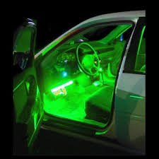 Green Interior LED Neon Glow Lighting Kit Flexible Strips Inside