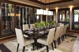 Smart Asian Dining Room With Wine Storage And Tropical Flair Design Willman Interiors
