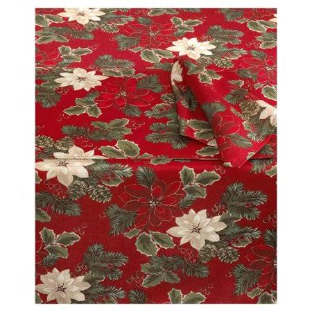 Bardwil Lenox Poinsettia Pine Cloth Napkins - Red, Set of 4