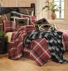 Lodge Retreat Rustic Bedding Plaid Collection