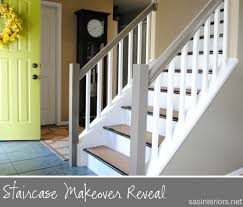 DIY Stair Makeover - Rip Up Old Carpet And Stain Wood, Paint The ... Java Gel Stain Banister Diy Projects Pinterest Gel Remodelaholic Stair Makeover Using How To A Angies List My Humongous Stairs Fail Kiss My Make Wood Stairs Treads For Cheap Simply Swider Stair Railing Cobalts House Staircase Reveal Cut The Craft Updating A Painted With An Ugly Oak Dark All Things Thrifty 30 Staing Filling Holes And