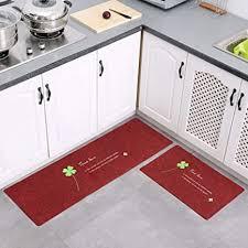de wtxd teppich läufer küche 2 stück küchenteppiche