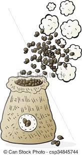Cartoon Bag Of Coffee Beans